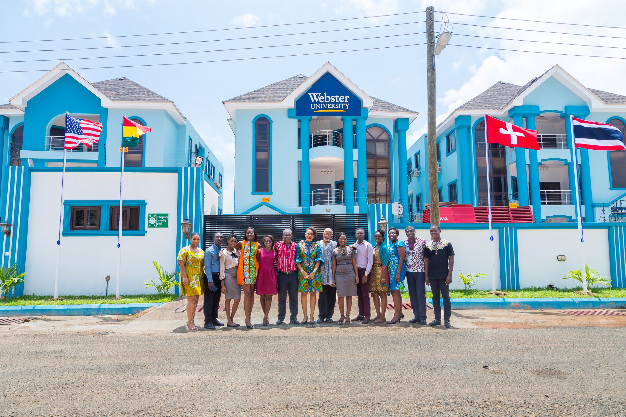 The latest Webster University campus is located in Ghana